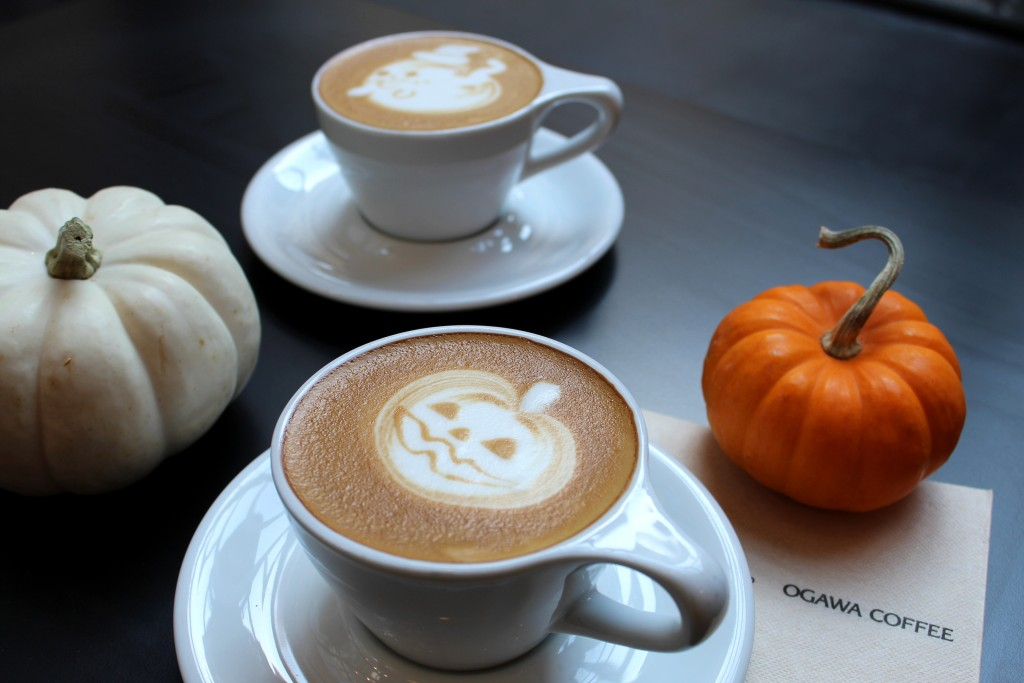 Ogawa Coffee Shop Halloween Latte Art